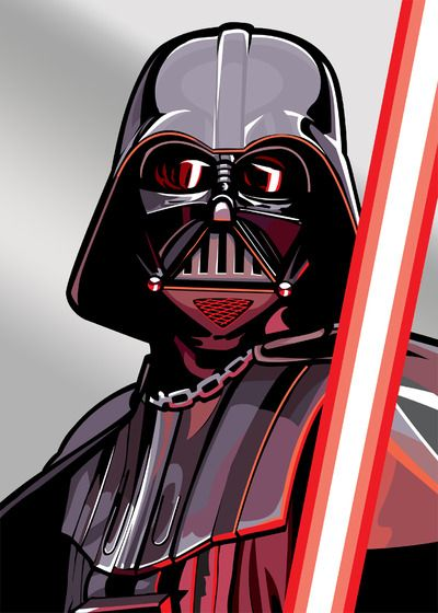 Darth Vader - Complete set of Star Wars Galaxy Series 5 Art if Randy Martinez Subset (Silver) #starwars #fanart