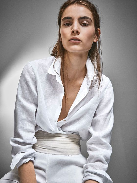 Plain white shirts - Shirts & Blouses - Massimo Dutti - {7}
