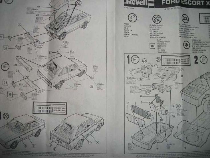 Revell: Ford Escort XR3 (Modelljahr 81) - Bausatzvorstellung - Das Wettringer Modellbauforum