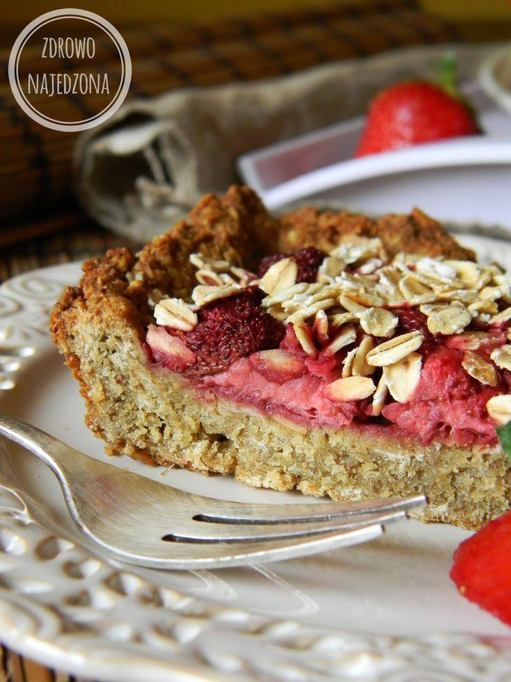 czyli o tym, że zdrowe jedzenie nie musi być nudne :): Owsiane ciasto z truskawkami