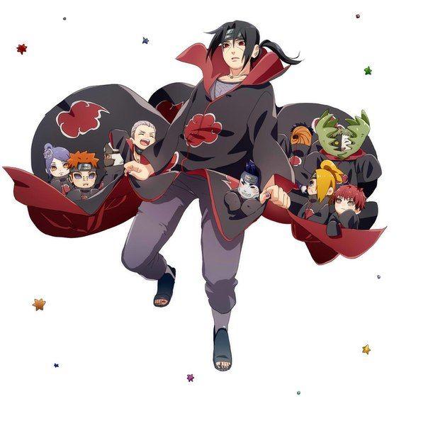 #Itachi and the #Akatsuki hahaha so cute #naruto