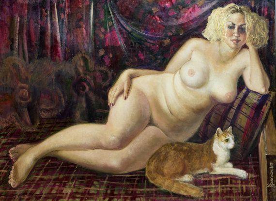 Nude painting full Nude  Figure Painting  Female от InnaShirokova