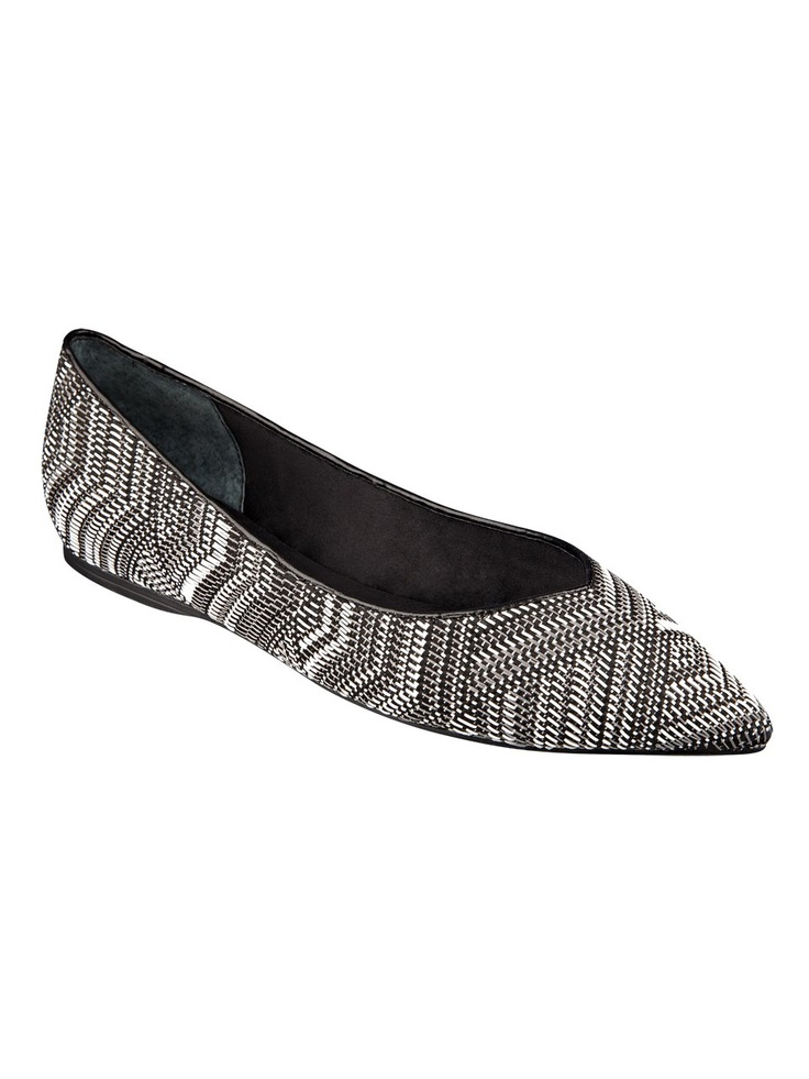 GUESS Tangelo Woven Flats, BLACK MULTI (10)