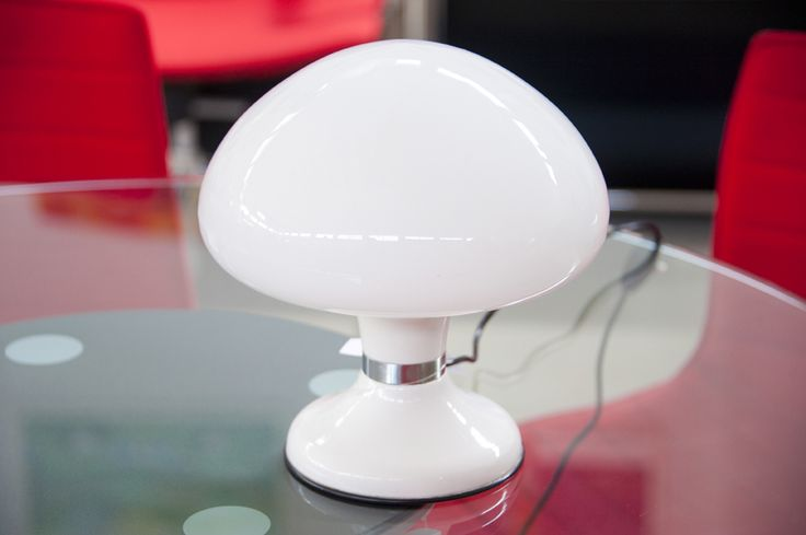 Lampada da tavolo a fungo vetro e metallo anni '60 #vintage