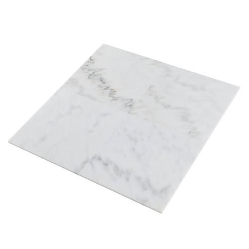 Classic Bianco Marble Tile - 12in. x 12in. - 100133958 | Floor and Decor