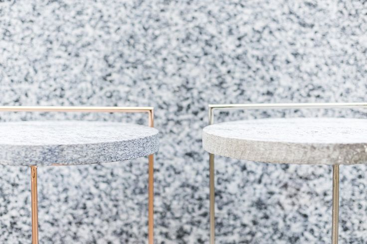 PROJECT || ERCOLE - reiecta | Table with single or double structure | Finishing: copper, gold or zinc chromed metal | Height: 50 cm Associated with Marble : small round top | oval top | Reiecta also offers a range of 25 marble tops for both designs in the SerieZero collection.