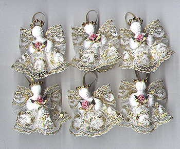 Little angels, all six in this auction, excellent gifts. Stocking stuffers.Check out our ebay store, ChosenTreasures4u for some sale items now. Most items are reduced.
