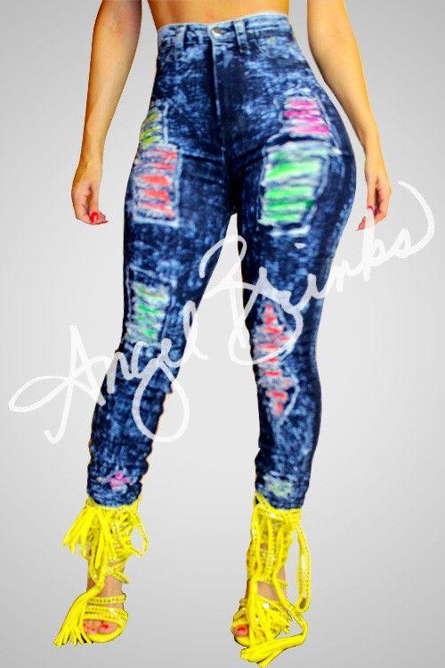 Colorful Jeans | Shop Boutique on Angel Brinks