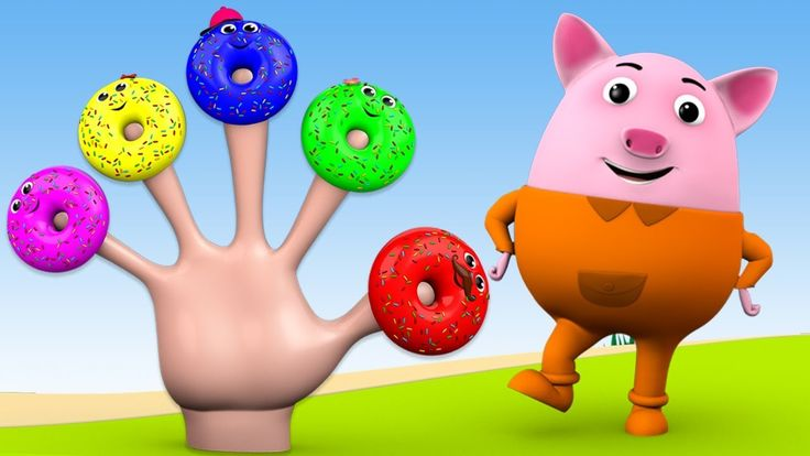 Finger Family Song - Little Baby Pig Fun Learning Donuts Finger Family N...
