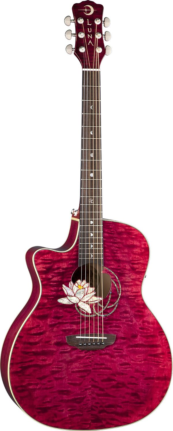 Luna Guitar - this is just like Jamie Grace's guitar :) I've been looking for one like her's for a while...The only thing I don't like is the symbol on the 12th fret