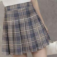 Women/'s High Waist Pleated Casual Tennis Style Mini Skater Skirt