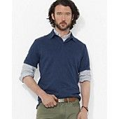 Polo Ralph Lauren Short-Sleeved Mini-Herringbone Shirt