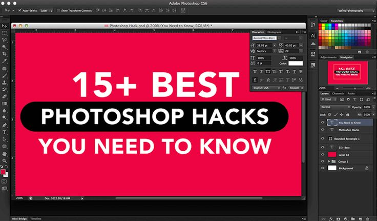 Here we have a list of the best Photoshop hacks for our designers. Using Photoshop is good but using it smartly makes the tool more helpful and effective. #Design #GraphicDesign #Photoshop #Designer #GraphicDesigner #Freelance #Fonts #Typography #UX #WebDesign #LogoDesign #Advertising #Funny #Memes #Humour #Clients #Agency #AdAgency #Creative #PhotoshopHacks #Hacks #DesignersLife #DesignHumor #Tutorial #PhotoshopTutorial #PhotoshopShortcut