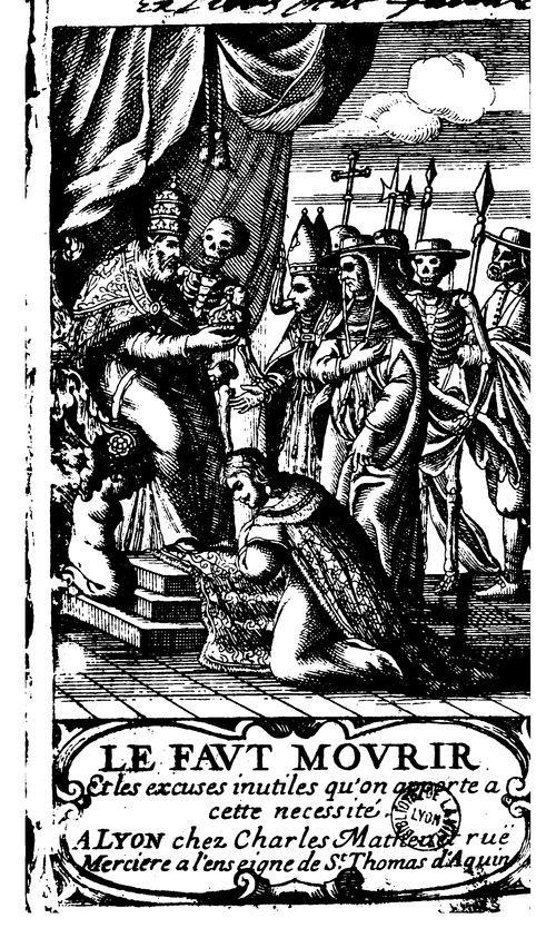 Le Faut-mourir, et les excuses inutiles qu'on apporte à cette nécessité, 1666 #LivreAncien