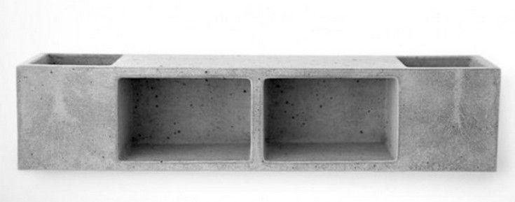 Functional Concrete Bathroom Shelf - http://homeypic.com/functional-concrete-bathroom-shelf-2/