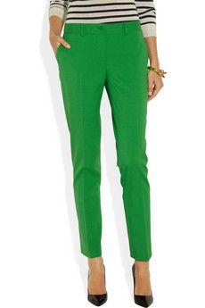 Samantha stretch-wool gabardine skinny pants by Michael Kors