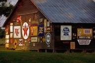 old barns with tin signs - Google Search