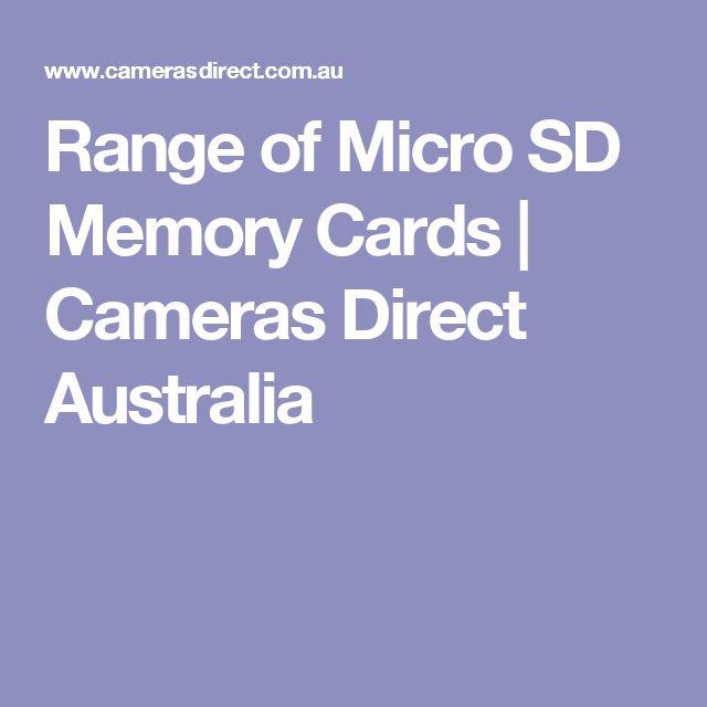 Range of Micro SD Memory Cards | Cameras Direct Australia