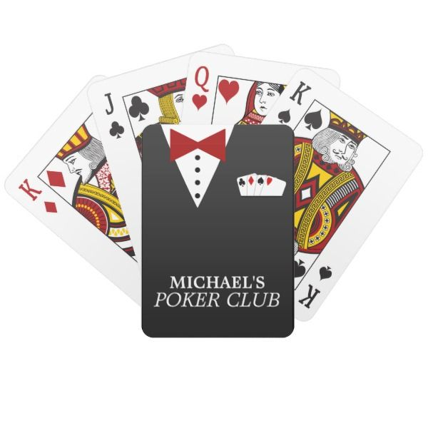 Personalized Poker Club Playing Cards -  Super fun custom deck of playing cards!             ... #custom #print on demand art themed #gift #odt  playingcards design by #reflections06 - #odt  #playingcards #cool #classy #suit #personalized #poker #club #ori...