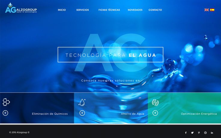 Web design for Water treatment company in Colombia ©Vivamente - Alzogroup