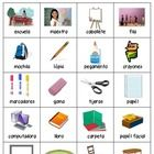 This is a chart you can use at the beginning of the year in your classroom writing center. There are 20 Spanish words with pictures all about schoo...