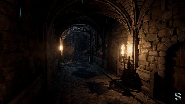 Túneles subterráneos bajo el castillo de Uniria