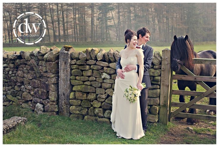 Bride and Groom Wedding Portrait at Trough of Bowland, Lancashire