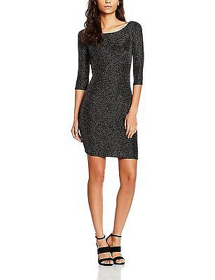 38, Silver (SILVER 012), Mia & Mimi Women's Lurex Bodycon Dress Emma NEW