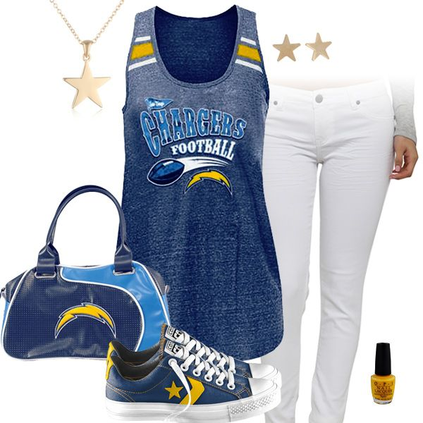 San Diego Chargers Baby Clothes: San Diego Chargers All Star Outfit