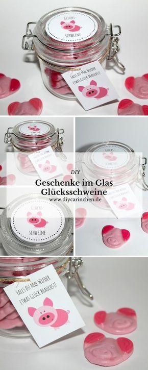 Brauchst du etwas Glück? DIY selbstgemachte Geschenke aus dem Glas – Glücksschweine