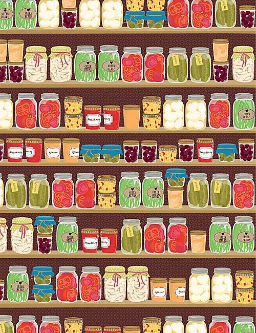 I think this would look lovely in the kitchen drawers, perfect for it... from www.papercrave.com ~ Canning Jars Gift Wrap