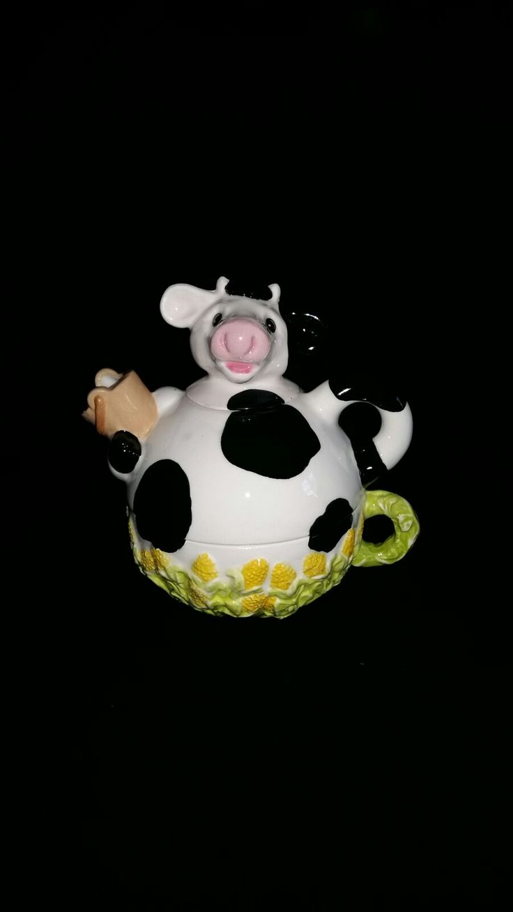Cow Tea For one Teapot & Mug, So cute & one of my best Sellers