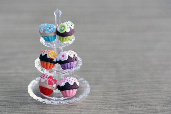 Polymer Clay Miniature Food Jewelry: Cupcake Earrings