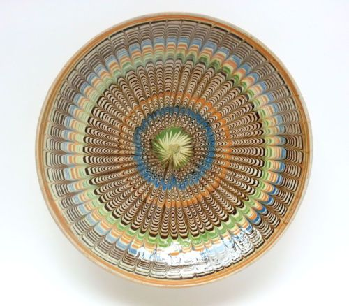 Traditional-Horezu-decorative-plate-Romanian-authentic-handmade-folk-art