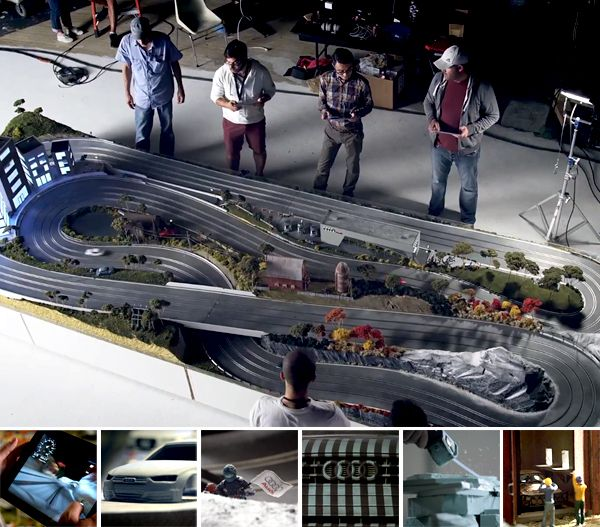Audi Slot Cars    http://www.notcot.com/archives/2013/01/painting-coconuts---the-audi-q.php#