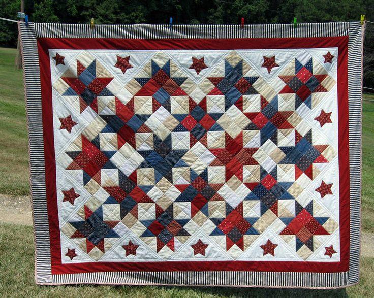 Patriotic Quilt: Patriots Quilts, Jason July, Stars Quilts, Birthday Quilts, Stars Birthday, Patriots Stars, Quilts 2012, 40Th Birthday, July 4