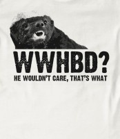 """I think the bottom caption should say, """"he wouldnt give a $&!@"""", but still  very funny! (: Honey Badger Tshirt $28.99"""