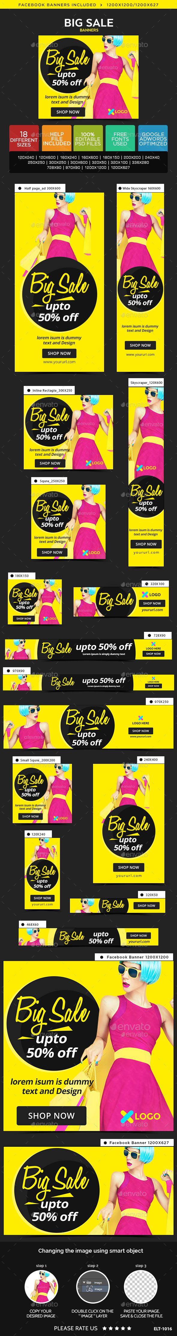 18 Awesome Quality Big Sale Web Banners Template PSD #ad #design Download: http://graphicriver.net/item/big-sale-banners/14287363?ref=ksioks
