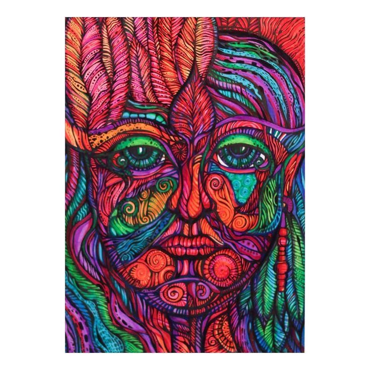 W masce | Rysunek | 29,7 x 21 cm
