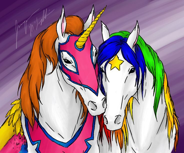 :If I had Words: by ~peanutchan on deviantART - Two of the horses that got some of us started.