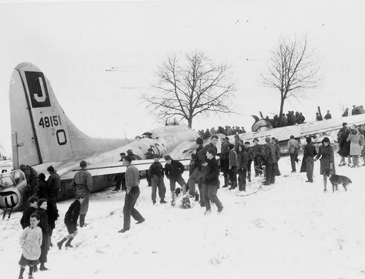 1000's of crash landings happened during the war. Here is 30 images of crash landings that it looks like the pilots and crew would have walked away from. Aircraft were always recovered, repaired, reused or recylced.