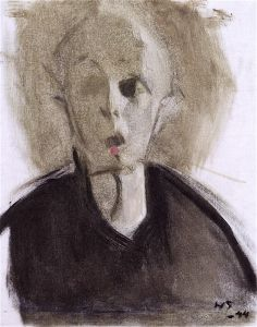 Helene Schjerfbeck(Finnish, 1862–1946), 'Self Portrait with Red Dot', 1944
