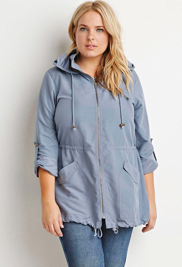 Plus Size Hooded Utility Jacket | Forever 21 PLUS - 2000183411