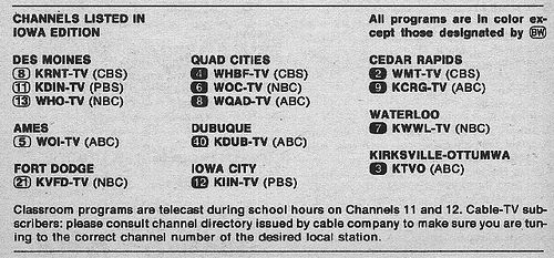 https://flic.kr/p/3Z1V4V | Iowa Edition (September 21, 1974) | From my TV Guide collection.