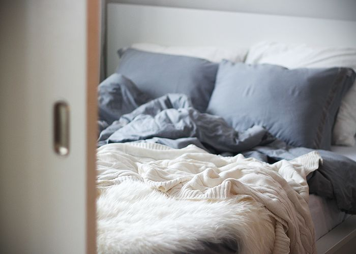 grey and white - cozy  침장  Pinterest