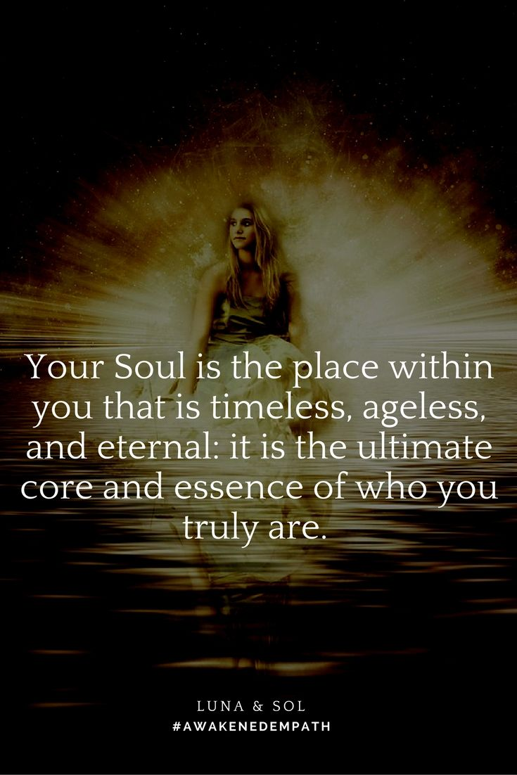 Your Soul is your Higher Self, your True Nature, the essence of who you are.