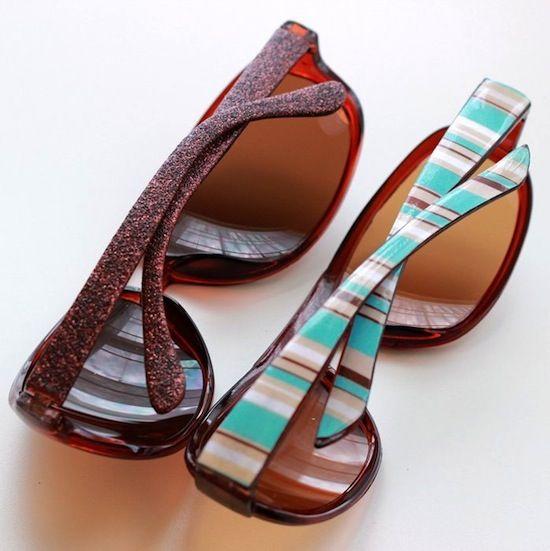 DIY sunglasses - customize them two ways!