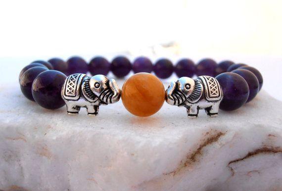 Elephant+Amethyst+bracelet+Elephant+bracelet+by+GreenJadeGoddess,+$12.90