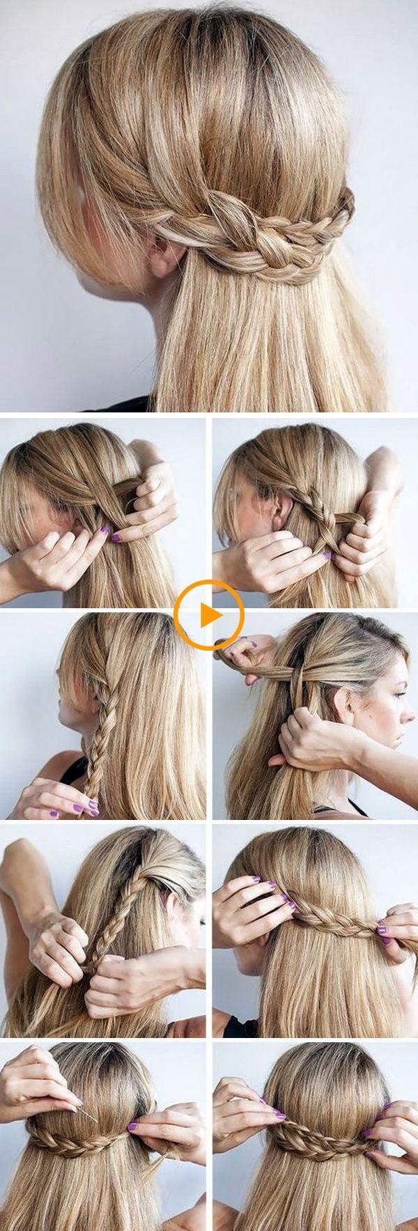 Paso a paso la construcción del peinado trenzado #frisur #frisuren #gefloch ….