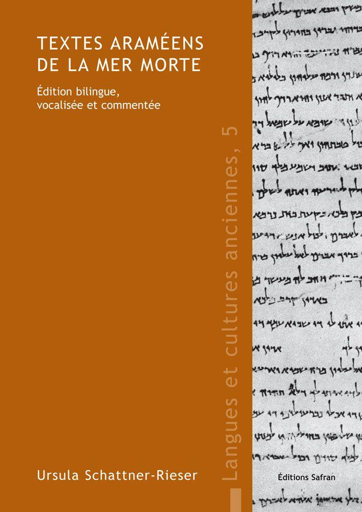 """Pour apprendre l'araméen // MANUEL """"Textes araméens de la mer Morte. Édition bilingue, vocalisée et commentée"""", par Ursula Schattner-Rieser, 160 pages // Plus de détails sur http://www.safran.be/proddetail.php?prod=LCA5&cat=3"""
